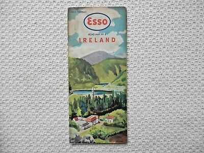 ESSO Road Map of IRELAND number 8 dated 1959-62 new old stock