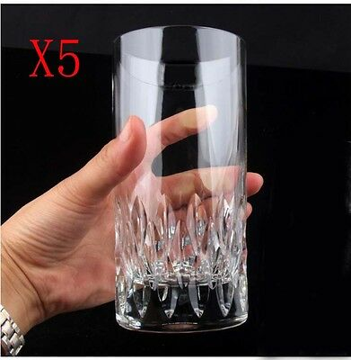 New 5X Capacity 420ML Height 150MM Straight Body Whisky Wine Glass/Glassware %