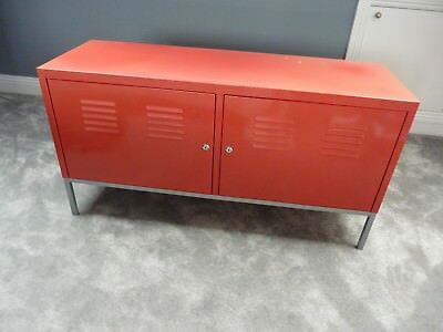 Merveilleux IKEA PS Metal Cabinet (Red) Used.