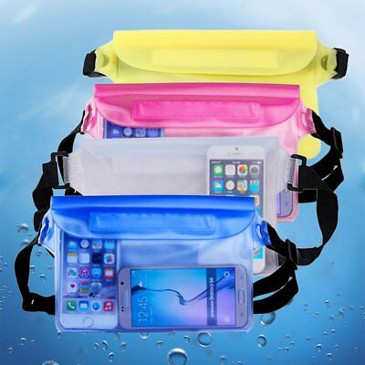 3b556a5da7a Waterproof PVC Waist Strap Bag Universal Dry Underwater Pouch Beach Swimming
