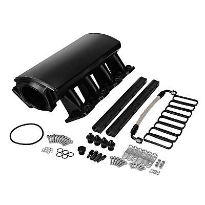 Aluminium LS1 LS2 LS6 102mm Intake Manifold Frabicated Low Profile Ram Air BLK