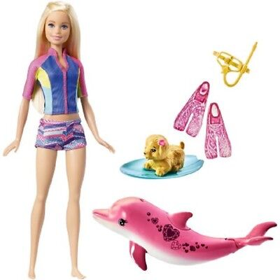 Barbie Dolphin Magic Snorkel Fun Friends Color Changing Swimsuit