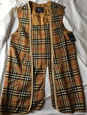 Vintage Burberry Women Trench Coat Nova Check Wool Lining