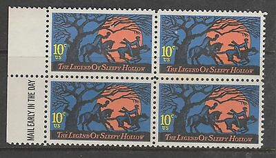 USA 10c The legend of Sleepy Hollow with  Margin Block of 4 MUH  #