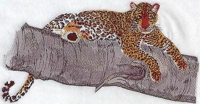 "Leopard, Wild Animal, Exotic Cat Embroidered Patch 9.1""x 5.2"""
