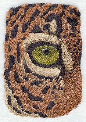 "Jaguar Eye, Wild Animal, Exotic Cat Embroidered Patch 4.6"" x 6.8"""