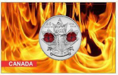 2010 Canada Remembrance Day Poppy 25cents UNC