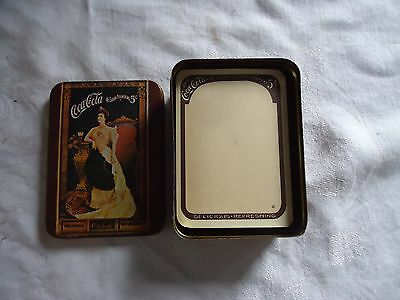 Vintage Coca Cola Tin With Note Paper Full Nice Condition