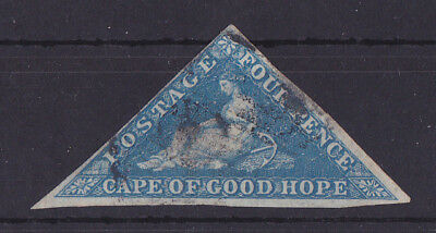 CAPE OF GOOD HOPE 1853-1864 Used Triangle 4d Blue Unchecked
