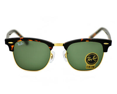 213a64cfac Ray Ban RB 3016 Clubmaster Classic W0366 Tortoise Frame Green Classic G-15  51mm