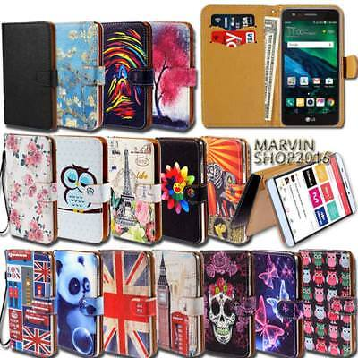 Leather Wallet Card Stand Flip Case Cover For Various LG Tribute