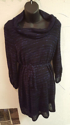 Motherhood Maternity Cowl Neck Belted Sweater Tunic/Dress with attached tank 1X