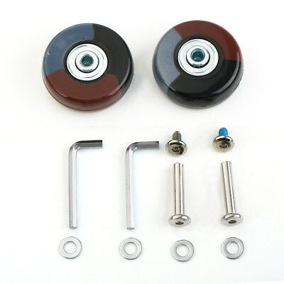 2 Sets OD 50mm Luggage Suitcase Wheels Colourful Replacement Repair Axles Repair