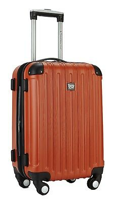 Travelers Club Luggage Madison 20 Inch Expandable Hardside Carry Airplane Orange