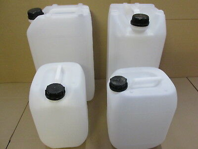 2 X 25 Litre 25L 2 X 10 L New Plastic Bottle Jerry Can Water Container Carrier