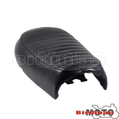 Universal Rear Hump Cushion Seat Saddle Pad Cover For Cafe Racer Bobber Chopper
