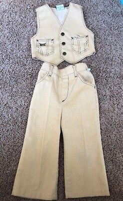 1970's Billy the Kid Cowboy Best And Bootcut Pants Size 3T