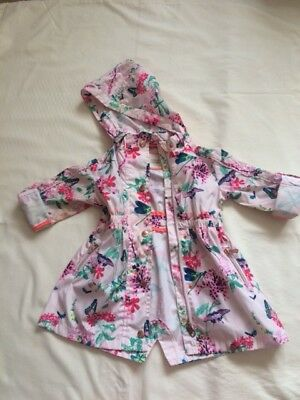 Ted Baker Girls Floral Mac / Coat Size 2-3 Years