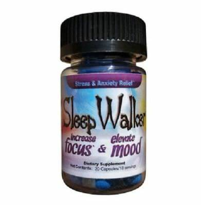 20 Capsules Sleep Walker Pill RedXdawn Mood Enhancer Bottle - BRAND NEW