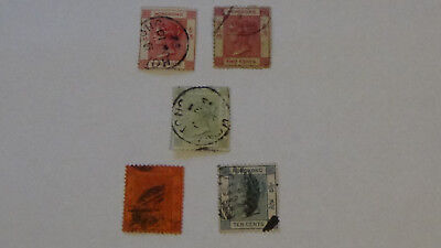 Hongkong 1882 1891 1900 1902 China Briefmarke Asien Post 5 Stamps Queen Victoria