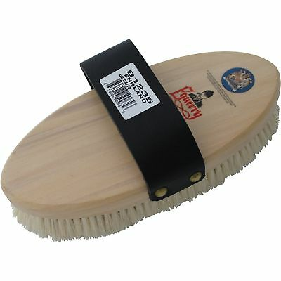 Equerry Leather Strap Goat Hair Body Brush (TL1524)
