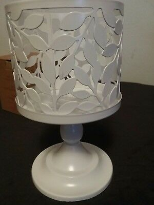 "Avon ""new"" 2 In 1 Candle Pedestal Satin White Color"