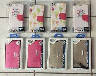 Wholesale Lot of (8) Samsung S7 Wallet Cases in Retail Packs - $4 Each Free Ship