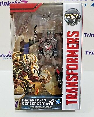 Transformers: The Last Knight Premier Edition Deluxe Class BERSERKER Figure