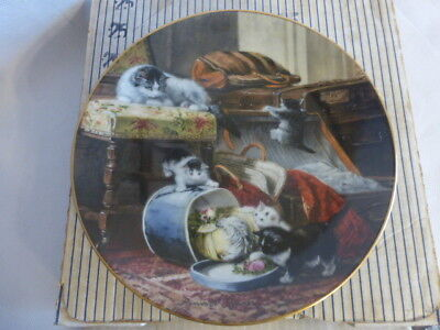 "Henriette Ronner Queen of Cats ""Michief with the Hatbox"" 1st Issue, Box, COA"