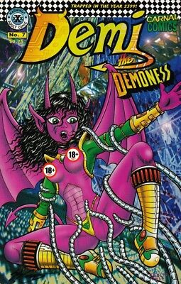 DEMI THE DEMONESS #7A Steven S. Crompton 1995 erotic adult