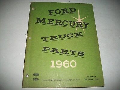 1960 Ford  & Mercury Truck Body & Chassis Parts Catalog  Canadian Issue