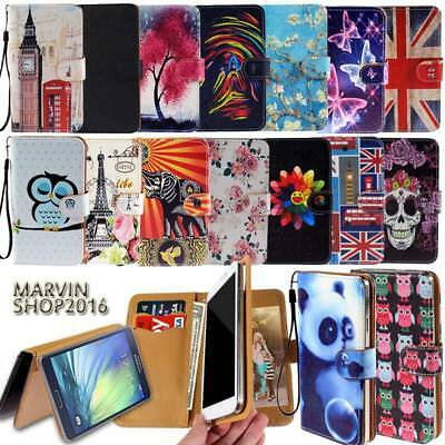 Leather Wallet Card Stand Flip Case Cover For Samsung Galaxy S6 S7 S8 Phones