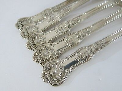 """Antique English, Sterling Silver Queens Pattern Forks (English Kings) 8"""""""