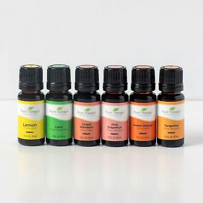 Plant Therapy Essential Oils Fruits Set | Grapefruit & Others In Wood Box | 10mL