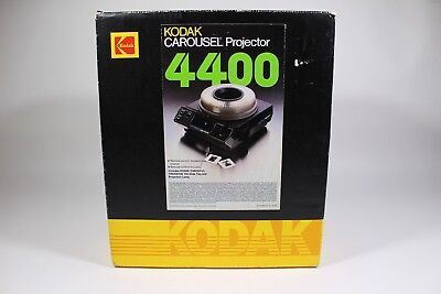 Kodak Carousel Slide Projector 4400 Working Clean Original Box, Remote, Lens