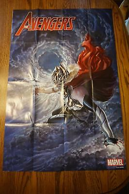 RARE 2017 Promo Poster MARVEL Comic 36x24 AVENGERS The Mighty THOR UNUSED