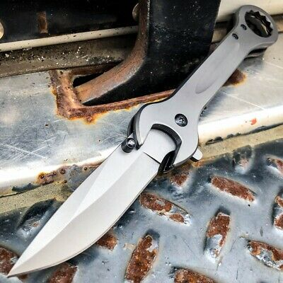 "8"" FANTASY FOLDING Dagger Dirk POCKET KNIFE Damascus Ninja Blade Diablo NEW EDC"