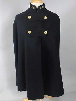 Vintage 1940s WWII Era Wool Nurse's Uniform Cape w/Red Lining C.E.O. // R.R.H.
