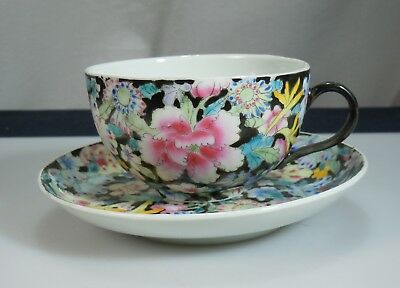 Chinese Porcelain Millefleur 1000 Flower Cup & Saucer      51138