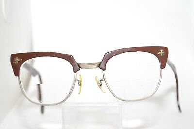 8224f6796f3 VINTAGE BAUSCH + Lomb Safety Glasses 24  48 Brown 1950s -  49.99 ...