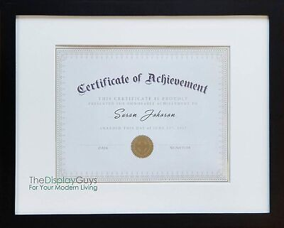 11X14 BLACK SOLID Pine Wood Picture Photo Certificate Diploma Frame ...