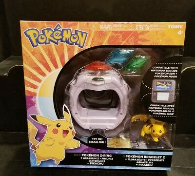 Pokemon Z-Ring Crystal Bracelet Set With Pikachu For Sun And Moon Tomy Toy