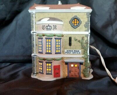 Kings Road Post Office Dept 56 Dickens Village Collection. With working cord