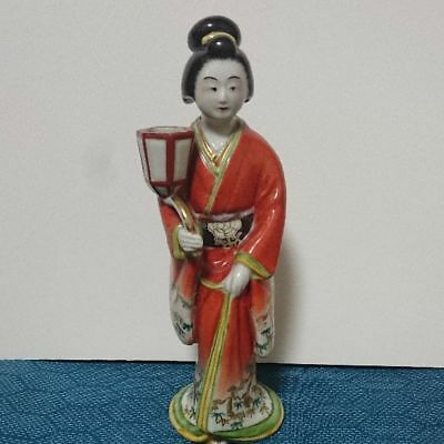 Antique Kutani ware kimono Japanese doll  rare popular beautiful EMS F/S!