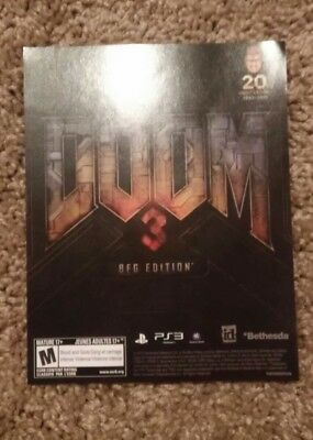 Doom 3 video game advertisment
