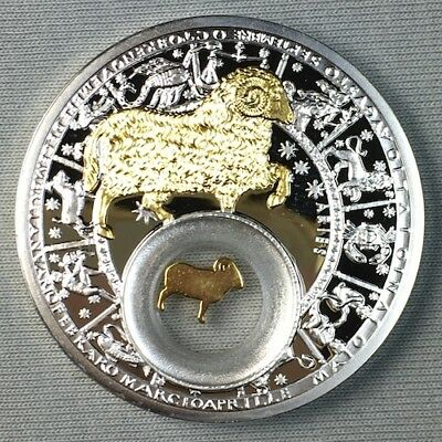 2013 Belarus - Aries - Gilt with Box - Limited Mintage - Rare