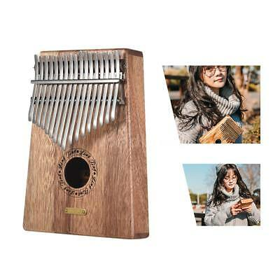 17-key Kalimba Thumb Piano Mbira Sanza Swartizia Spp Solid Wood with Carry X4Z9