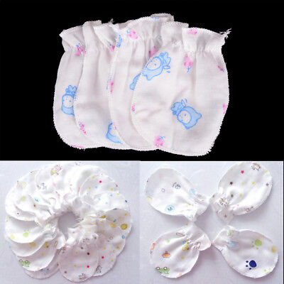 2 Pairs Baby Infant Soft Cotton Anti Scratch Mittens Gloves Baby Accessories