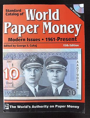 Std Catalog World Paper Money w/ CD, Modern Issues 1961 on 15th Ed FREE SHIPPING