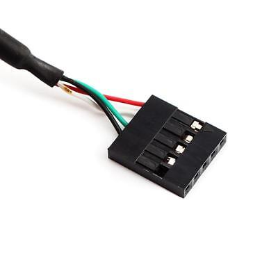 """New 5pin Male to 5Pin Female 50CM Mini USB 0.1"""" USB Header PCB Motherboard Cable"""